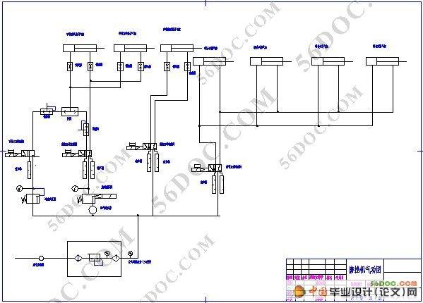 自动冲床电气接线图