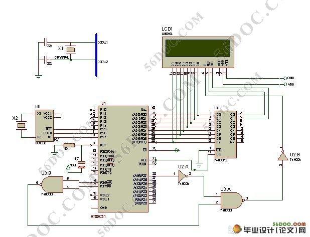 该电子万年历主要采用at89c51单片机作为主控核心,由ds1302时钟芯片图片