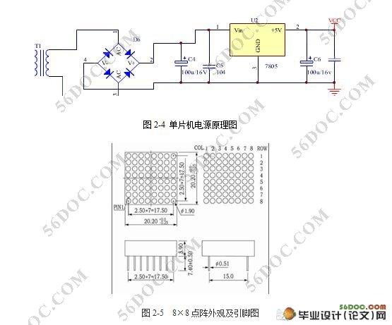 基于单片机的点阵led显示系统的设计与制作