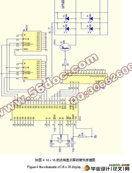 基于单片机的led汉字点阵显示系统的设计