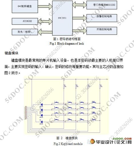 (2)完成密码锁电路设计及单片机控制的电子线路