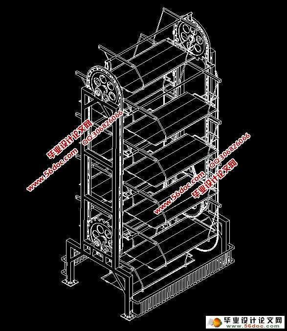 答辩ppt)   摘  要   立式循环式立体车库设备由钢结构框架,机械系统