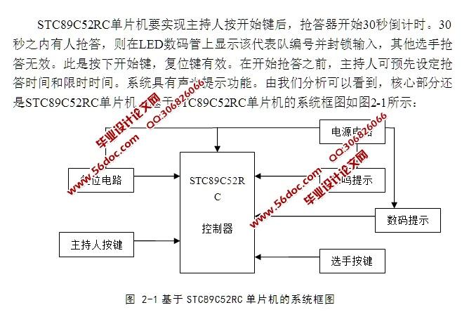 用来控制系统清零和抢答开始;   (3) 具有蜂鸣报警功能;   (4) 有数码