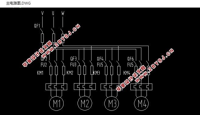 生产线皮带运输机控制系统的设计(含cad主电路图)