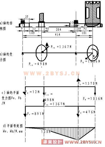 轴传动自行车机械结构图