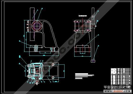 由于压力机的机身结构紧凑,齿轮与轴连成一体,做成齿轮轴结构.
