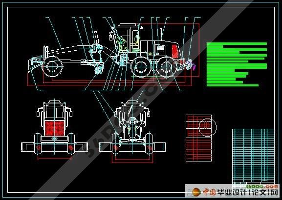 平地机整机及工作装置设计(精品)☆|机械毕业设计