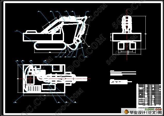 液压挖掘机反铲装置设计图片