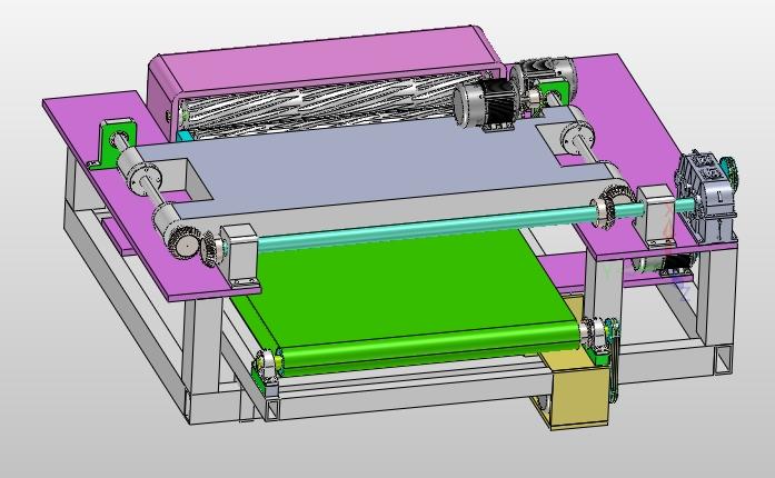 木材找圆旋切一体机的设计(含cad图,solidworks,igs三维图)