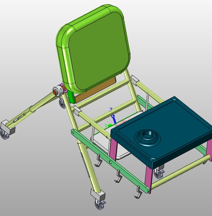 多功能婴儿餐桌椅的设计(含cad图,solidworks,igs三维