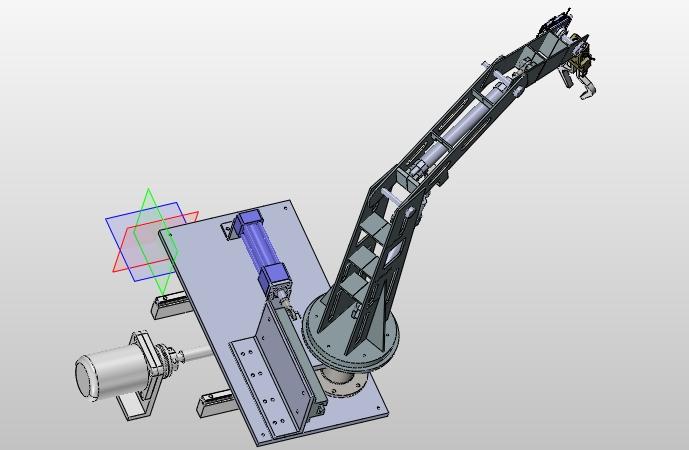 液压传动系统原理图_高炉上料机械手液压系统设计(含CAD零件装配图,SolidWorks三维图 ...