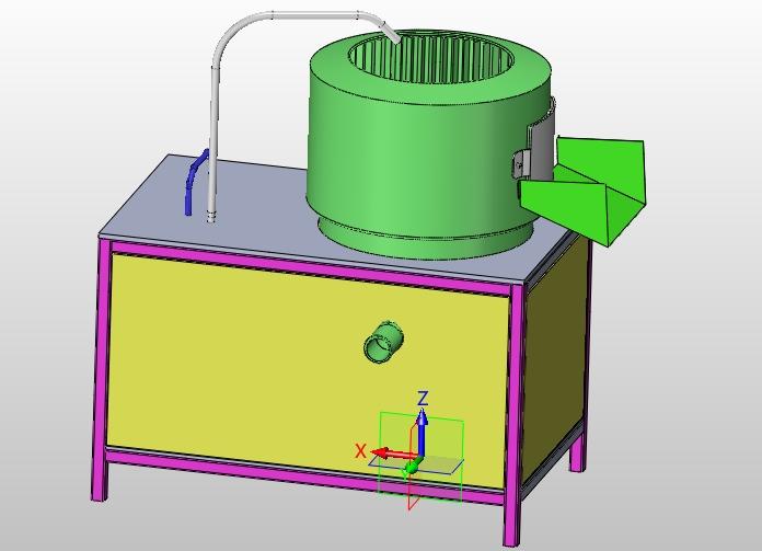 零件去皮机的设计(含cad土豆装配图,solidworks,igs三维图)莱山平面设计兼职图片