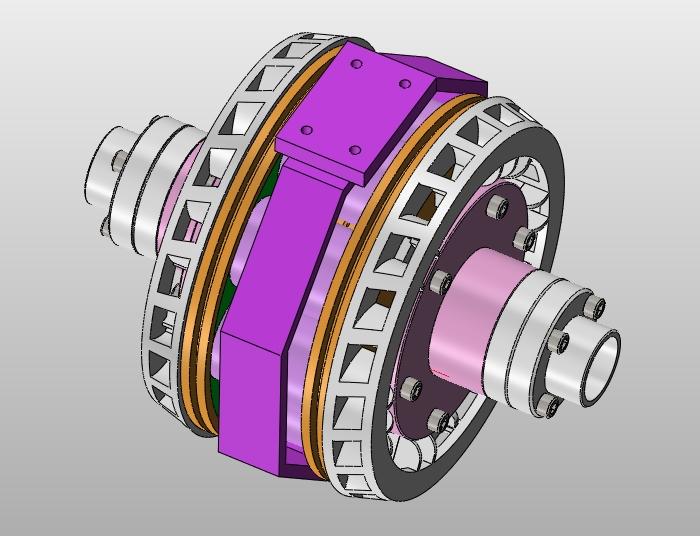 2 电涡流缓速器的工作原理   本次设计的电涡流缓速器简单地讲其工作