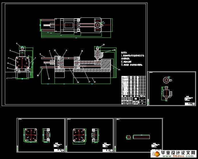 control system hardware and software design method is given. Keywords: injection molding machine; PLC; step control; FXGP-WIN-E 卧式注塑机的动作流程 根据卧式注塑机工艺流程图制定行动的卧式注塑机。操作流程图分为四个部分。在第一部分中,首先关闭安全门,其次是低压锁模,如果低电压模式锁定失败,然后开卧式注塑机和报警,故障清除后,返回到安全门动作;如果电压模式锁定不是失败,是高压锁模,