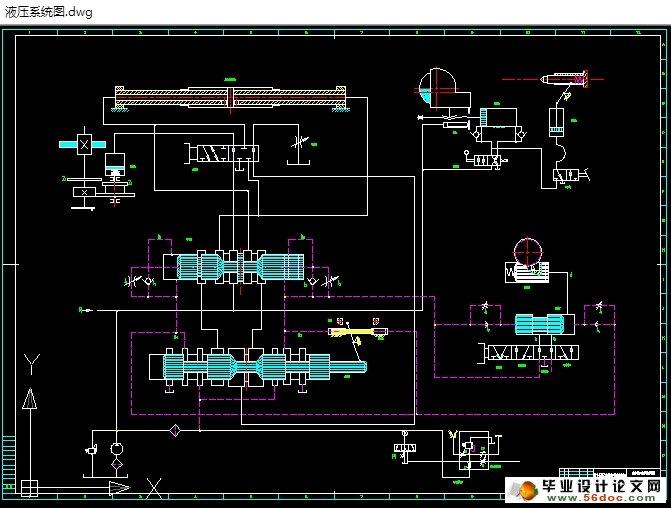 图纸2张) 本液压系统的设计,除了满足主机在动作和性能方面规定的要求外,还必须符合体积小、重量轻、成本低、效率高、机构简单、工作可靠、使用和维修方便等一些公认的普通设计原则。液压系统的设计主要是根据已知的条件,来确定液压工作方案、液压流量、压力和液压泵及其它元件的设计 此系统在结构上采用了将开停阀、先导阀、换向阀、节流阀、抖动缸等组合一体的操纵箱。这样的设计结构紧凑、减短了使用管路、易于操作,又便于制造和装配修理。操纵箱属行程制动换向回路,具有较高的换向位置精度,换向平稳性。而且使用活塞杆固定式双杆液压缸