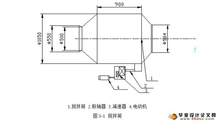 建筑混凝土搅拌机的设计(含cad图,solidworks三维)