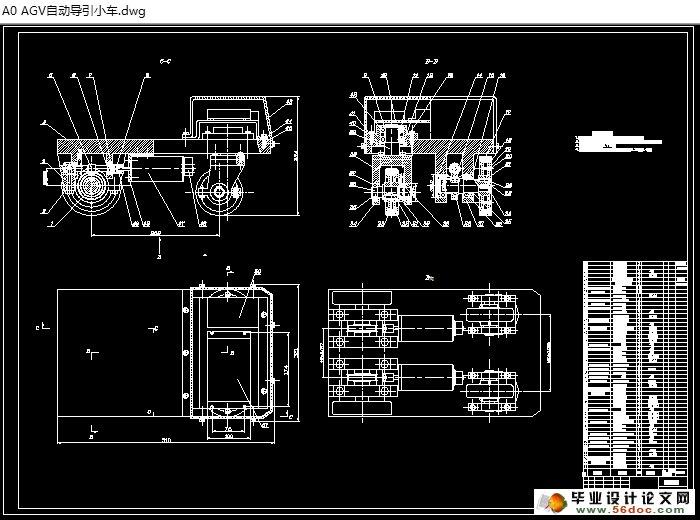 图纸11张) 摘 要 跟着生产的智能化、电脑集成制造体系水平的逐渐成长以及柔性生产体系、智能化三维仓库的大范围使用,智能车简称AGV (Automatic Guided Vehicle)就是自动引导车成为关联和调节离散型物流运输系统并且让它工作不间断化的重要的智能化运输装卸技术,他的使用区域和技术水平达到了高速的发展。 智能车是用微型控制器当做控制焦点、蓄电池为供能装置、装有非接触引导装置的无人驾驶自动 导引运载车,他的智能工作的主要任务是导向前进、选取地方停车准确并且移交载荷。成为现代物流生产智能化的有