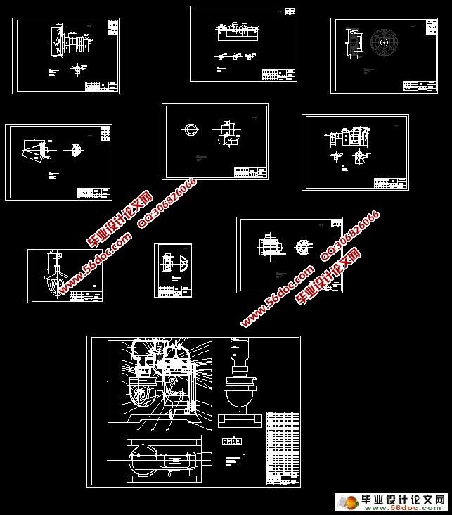 立式打蛋机设计 食品机械 含cad零件图装配图