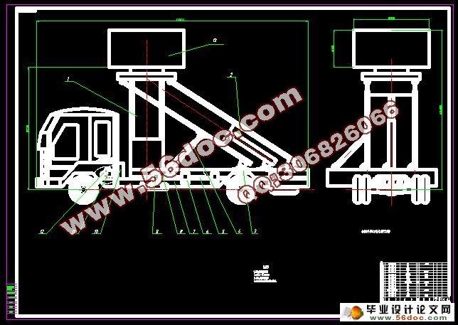 车载雷达液压升级系统设计图片