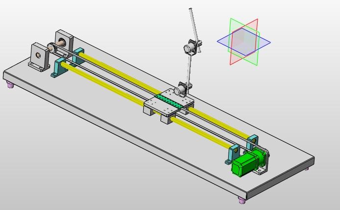 机械系统设计论文_两级倒立摆设计(含CAD图,SolidWorks三维图) 机械毕业设计
