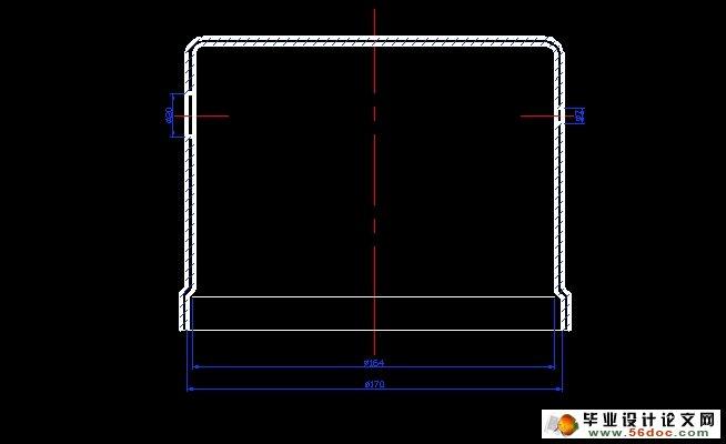 图纸9张,工艺卡) 图示零件材料为2mm厚08AI铝合金,能够进行一般的冲压加工,市场上也容易得到这种材料,价格适中。 外形落料的工艺性:工件图属于小尺寸零件,料厚2mm,外形复杂程度一般,尺寸精度要求一般,因此可采用落料工艺获得。 弯曲的工艺性:U弯曲R1.6 mm,高度4 mm,要求一般可以用弯曲工艺来获得 冲孔的工艺性:φ2.