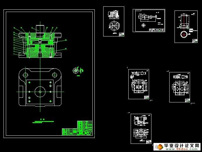 汽车玻璃升降器外壳冲压工艺模具设计(含cad零件装配图,工艺卡)