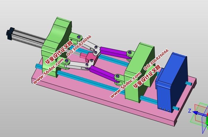 中型注塑机锁模装置结构设计(cad零件装配图,solidworks三维图)图片