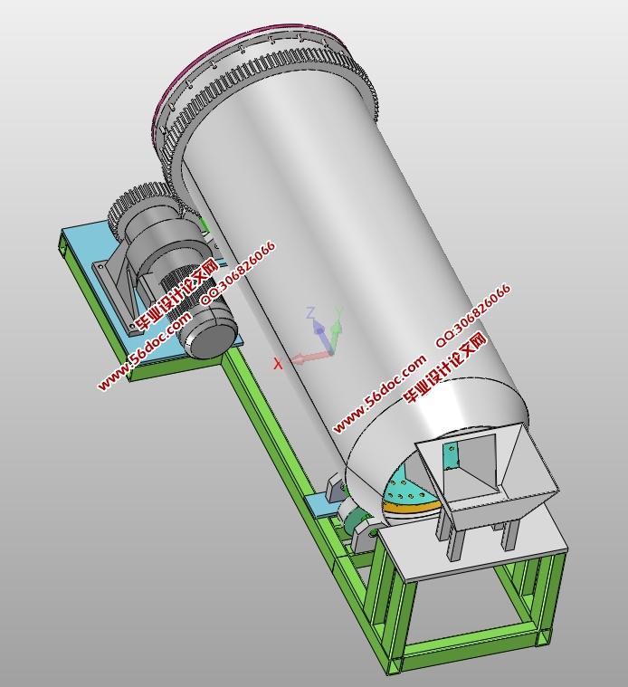 大豆滚筒清选机传动结构设计(含CAD零件装配图,SolidWorks,IGS三维图)(论文说明书8000字,CAD图纸8张,SolidWorks三维图,IGS通用三维格式) 摘 要 大豆滚筒清选机作为农业机械的一种,现在已经越来越普遍地应用到农业的大生产中。国内大豆滚筒清选机的研发及制造要与全球号召的高效经济、安全稳定主题保持一致。近期对机械行业中大豆滚筒清选机的使用情况进行了调查,发现在农业机械行业中,对于大豆等农作物的清选,如果在清选时使用临时设备清选,不但劳动强度太大而且工作效率极低,所以设计一个专