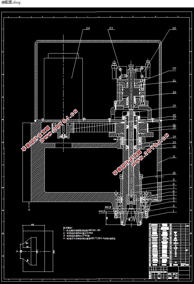 数控铣床主轴箱的结构设计与研究(含cad零件图装配图)