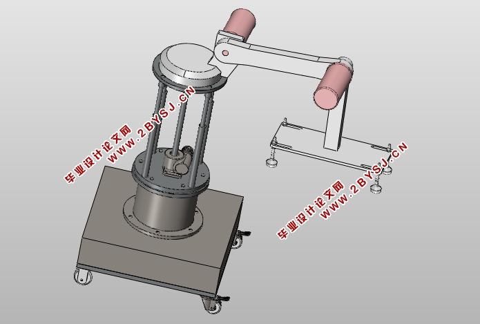 机器人关节包括底座和导轮,可旋转的腰部,肘部,手腕和机械手指五部分图片