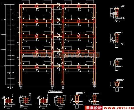 5页)、CAD图纸(18张)-某五层框架财政综合楼毕业设计图片