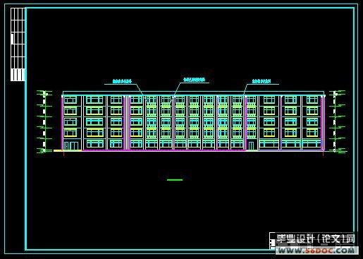 五层框架结构酒店宾馆设计