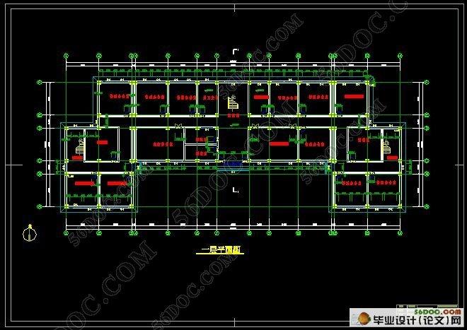 五层5172平米政府办公楼建筑结构设计(含cad建筑图,结构图)