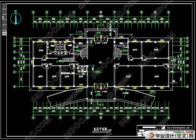五层4000平米框架结构公司办公楼设计(建筑