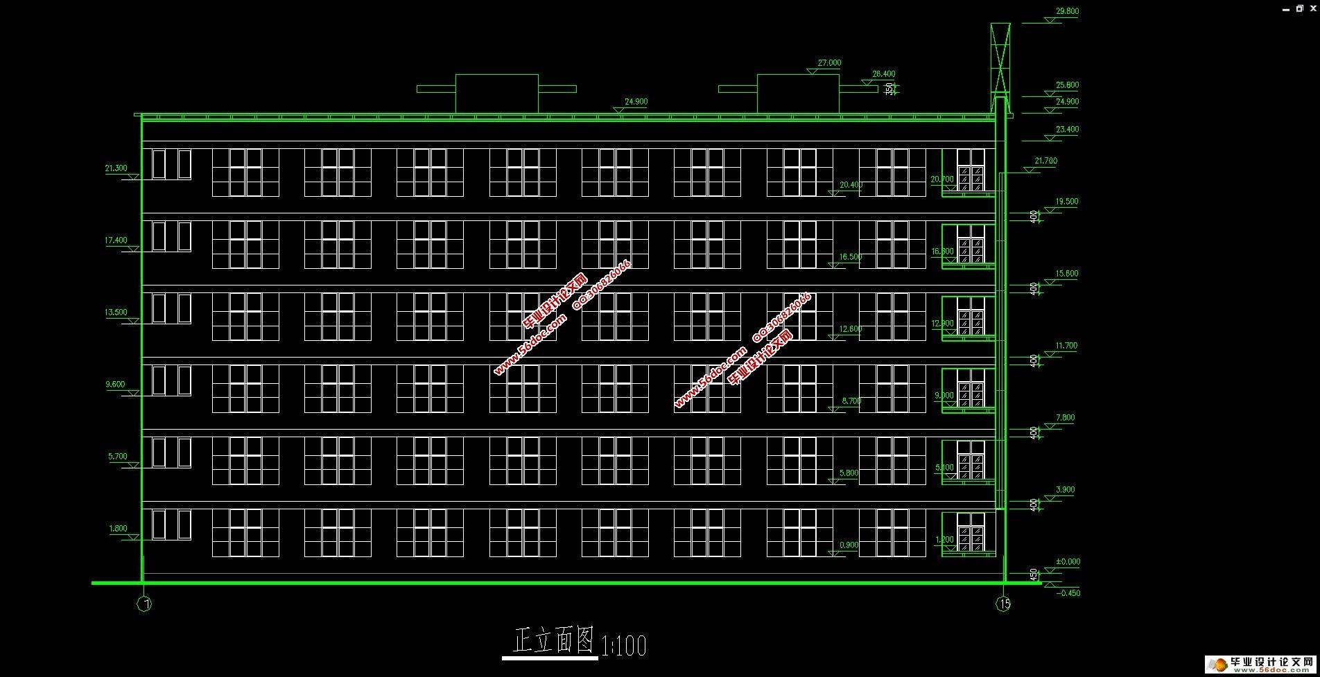 楼盖及屋盖均采用现浇钢筋混凝土框架结构