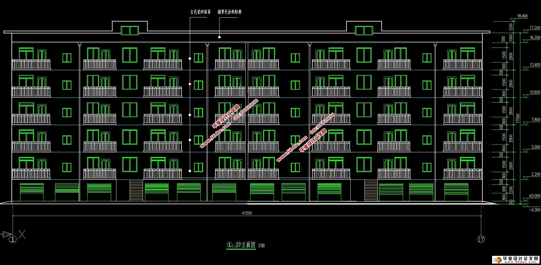 结构图11张) 本设计主要讲述了拟建住宅楼建筑结构设计的设计过程,它为钢筋混凝土框架结构。共六层,底层为车库,层高2.2米,其他层层高均为2.8米。建筑物总高度为18.4米。 本住宅楼属于建筑中的民用筑类,在设计计算中参考了较多的相关书目,并且严格按照建筑设计规范来完成建的。其主要分为两大部分: 第一部分为建筑设计。建筑设计是在总体规划的前提下,根据任务书的要求,综合考虑基地环境,使用功能,结构施工,材料设备,建筑设计及建筑艺术问题,解决建筑物的使用功能和空间的安排。依据建筑物的概念,建筑方针的原则,完成