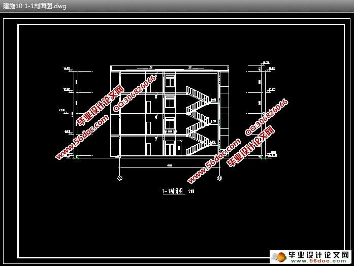 四层3878平米职工宿舍楼框架结构设计||土木毕业设计