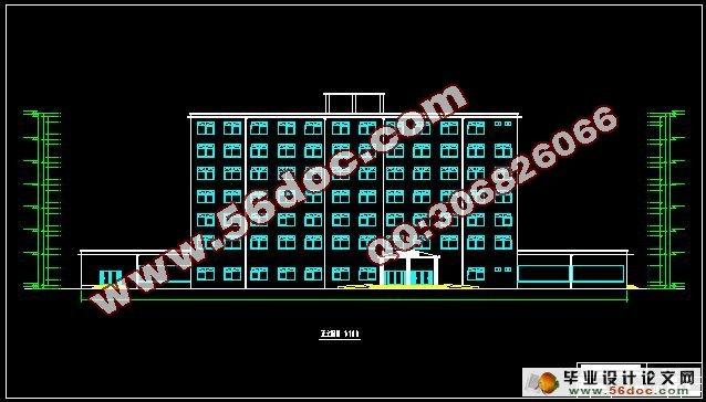 七层6000平米框架结构宾馆设计