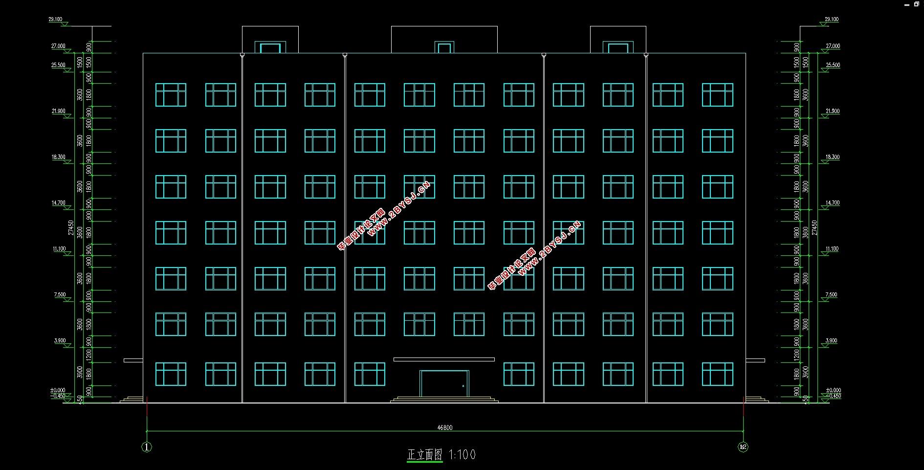 设计资料   1) 工程名称:城区某办公楼建筑与结构设计   2) 水文地质