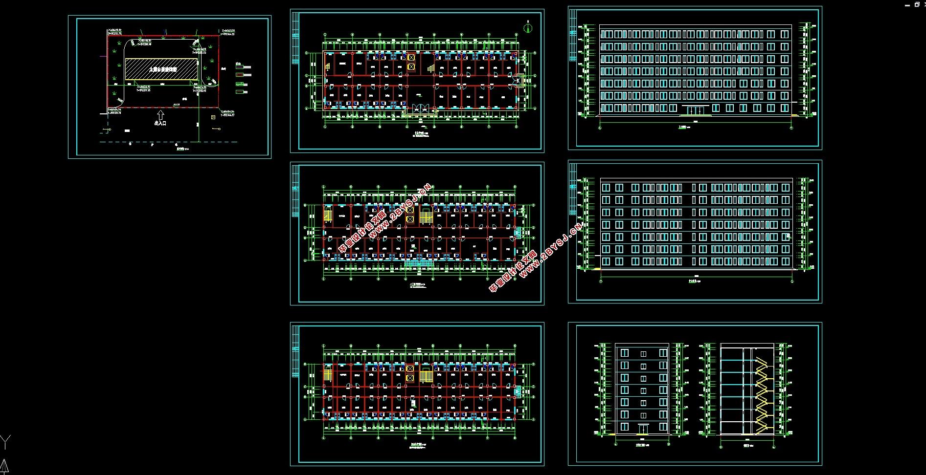 结构图11张,总 平面图,答辩ppt)   本设计建于某市的一栋太原市某旅馆