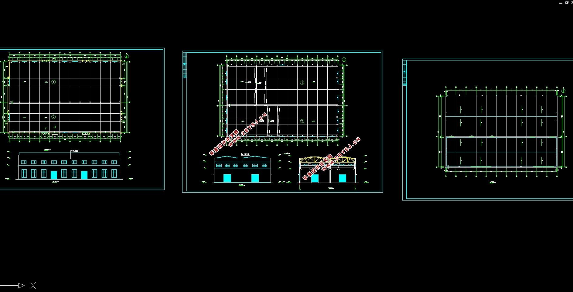 厂房结构设计( 建筑图,结构图)(任务书,计算书18500字, 建筑图3张