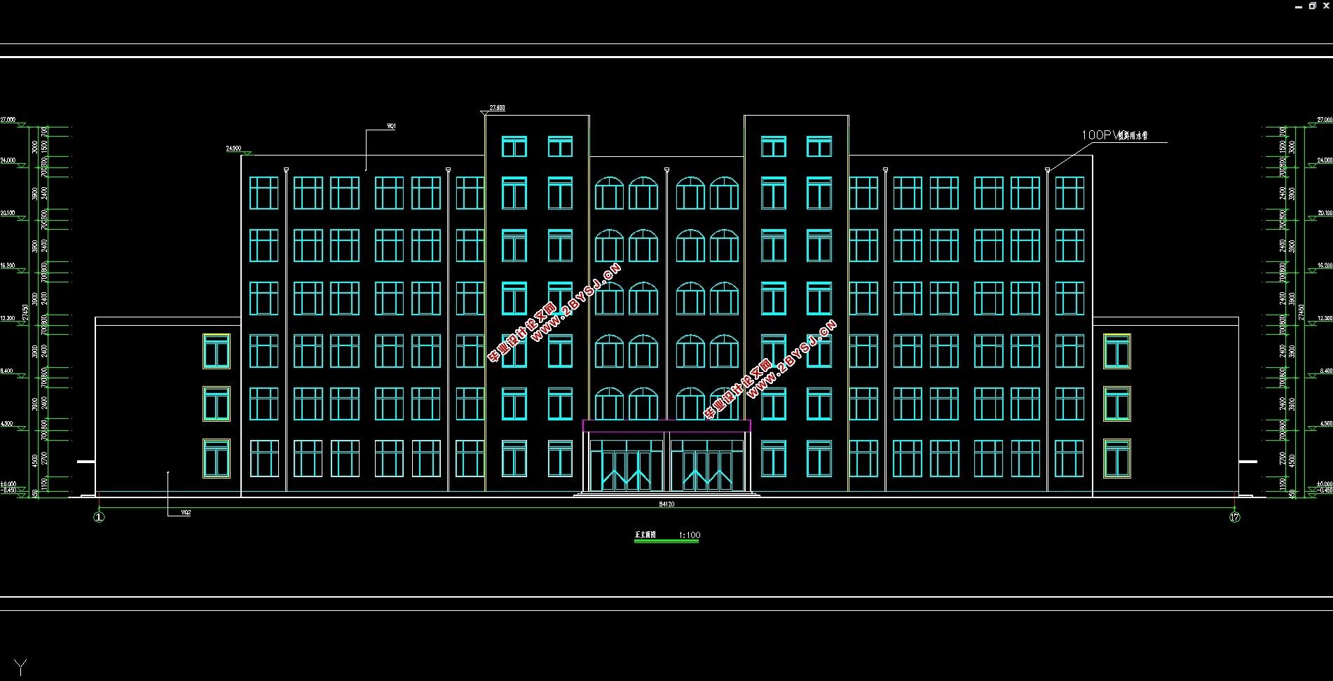 1 工程概况   该工程为六层办公楼,主体为现浇钢筋混凝土框架结构