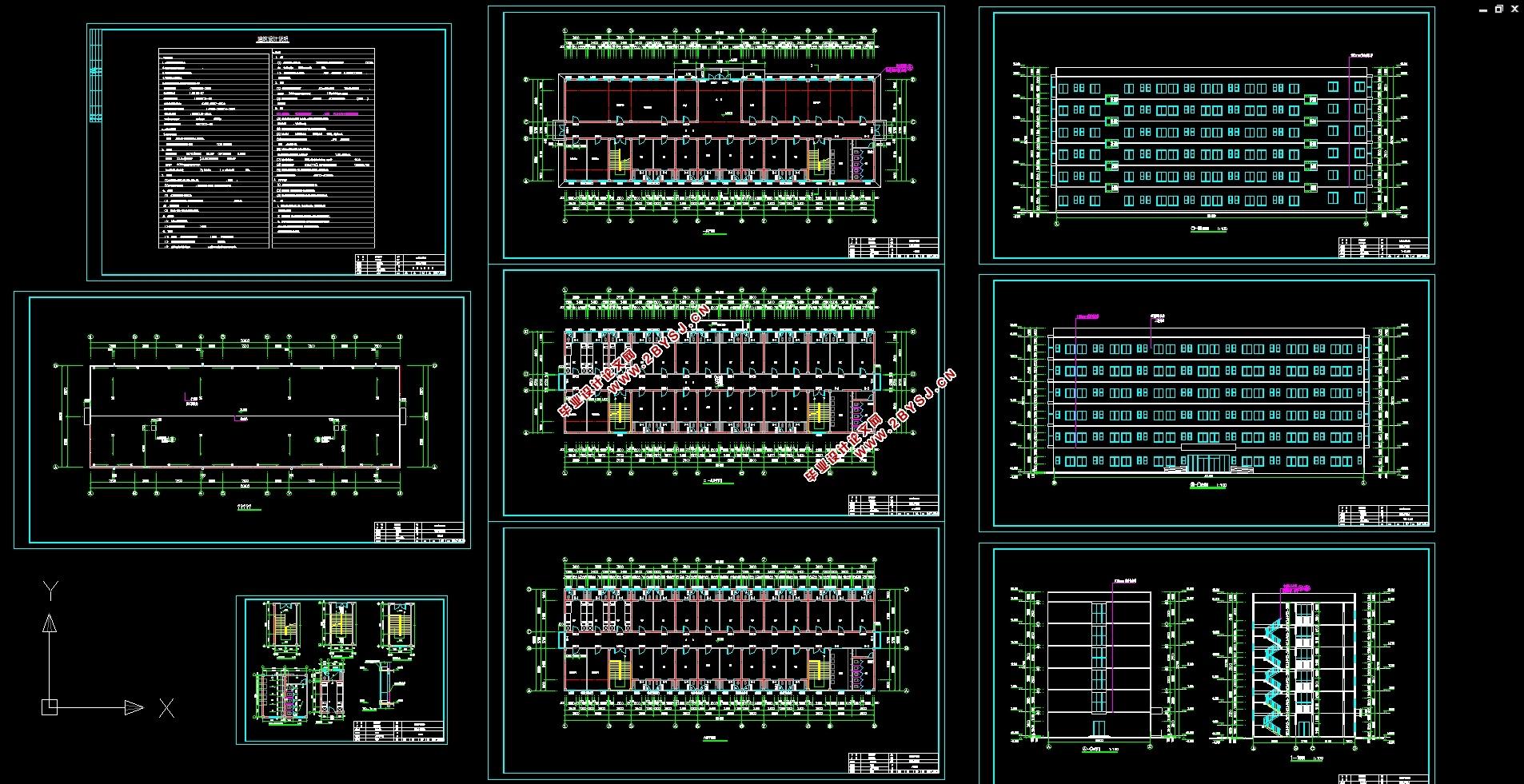 图8张,结构图9张) 本工程是福州市A中学宿舍楼设计,为混凝土框架体系。毕业设计过程中主要是对建筑设计和结构设计两部分进行的。 工程概况 该工程大楼为六层,主体为现浇钢筋混凝土框架结构,建筑面积5070.0,建筑物共6层,底层层高3.9m,标准层层高3.60m,顶层层高3.60m,总高度21.