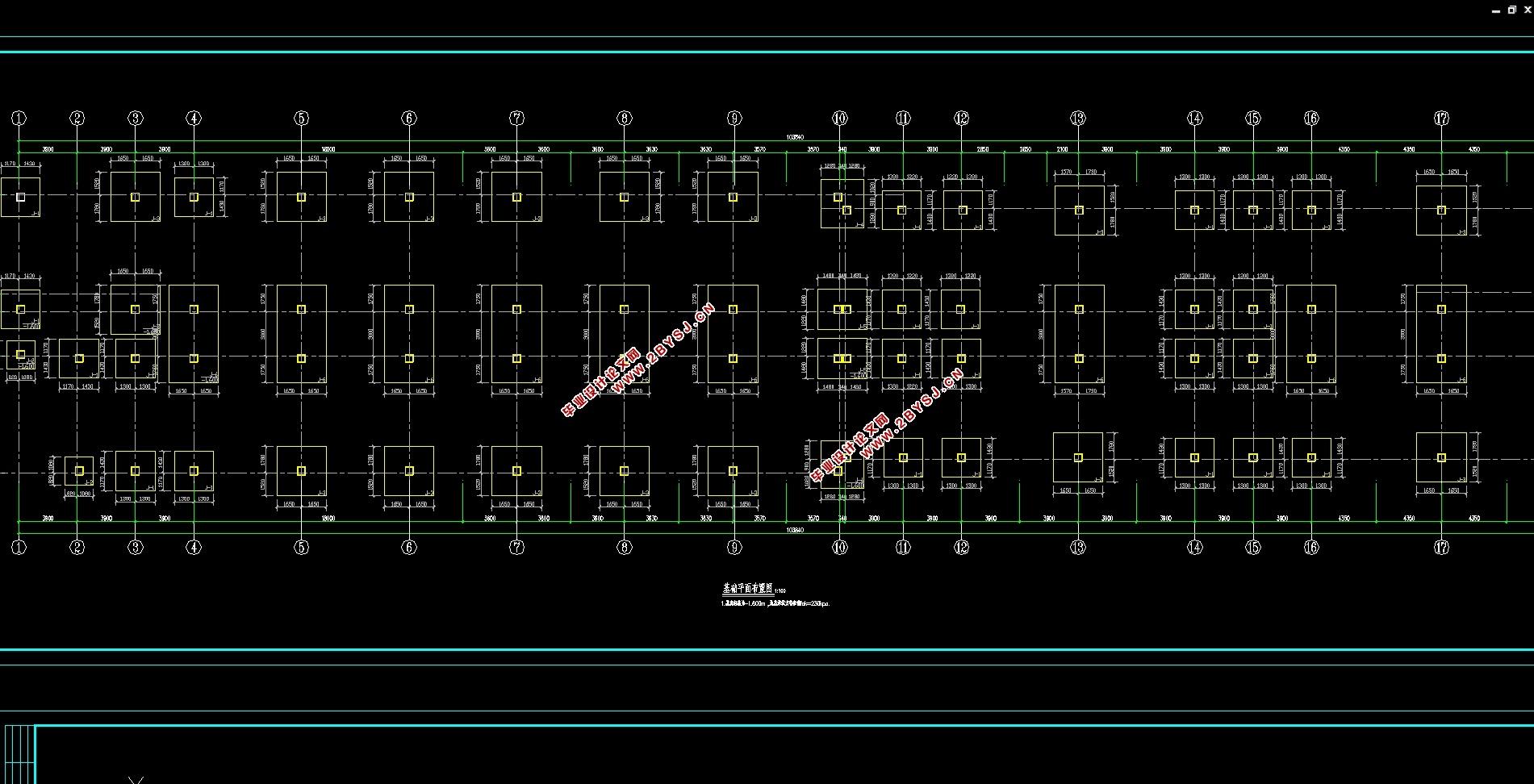 六层10300平米科技大楼设计(建筑图,结构图)